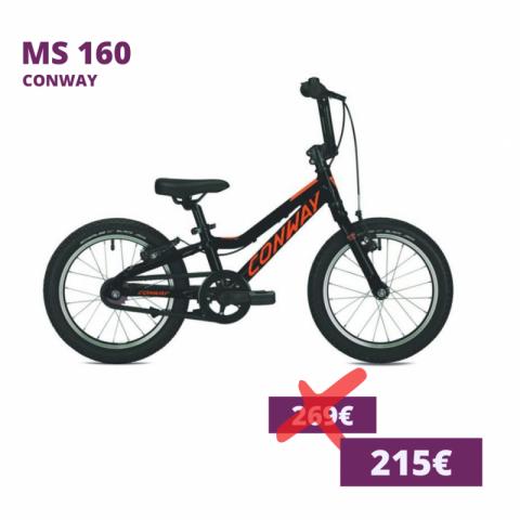 Conway MS 160 kids bike schwarz orange