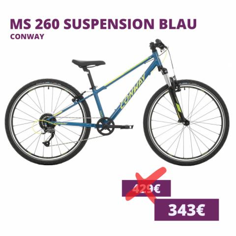 Conway MS 260 suspension kids bike blau