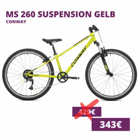 Conway MS 260 suspension kids bike gelb