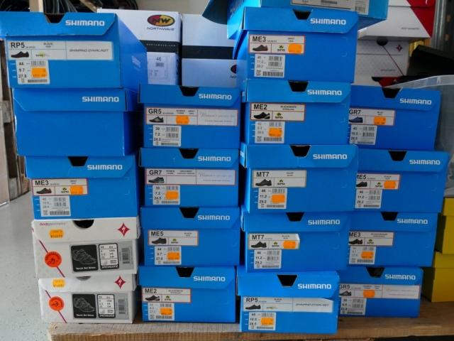 Shimano Bike Schuhe ewege Flohmarkt Sonderverkauf
