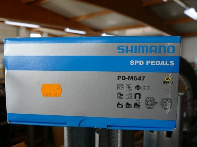 Shimano PD-M647 SPD Pedale ewege Flohmarkt Sonderverkauf