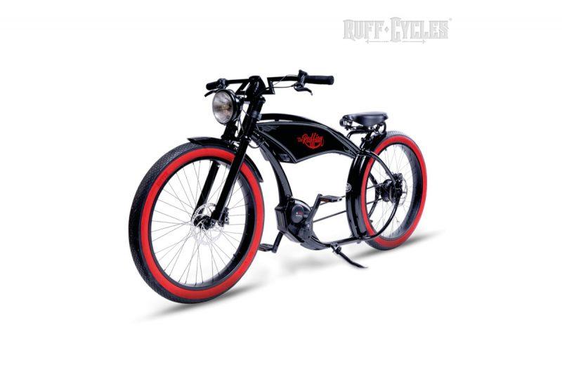 Ruff Cycles Ruffian Black Redwall – Angle Front_WEB