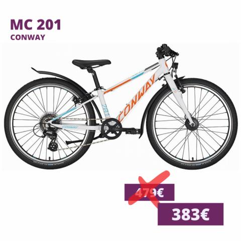 Conway MC 201 kids bike weiß orange cyan