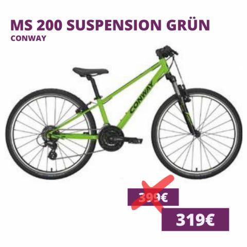 Conway MS 200 suspension kids bike grün