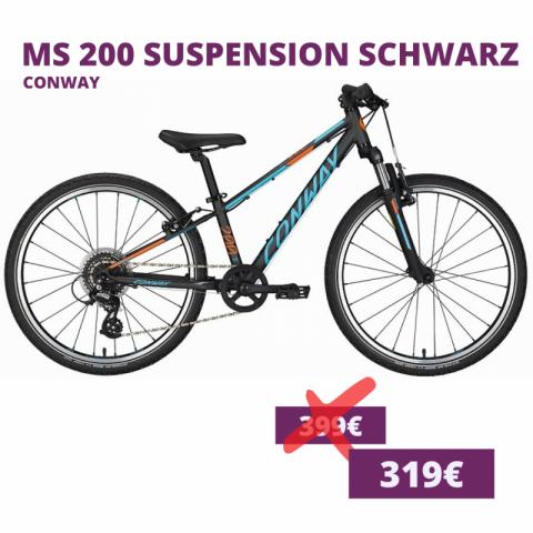 Conway MS 200 Suspension Kids bike schwarz